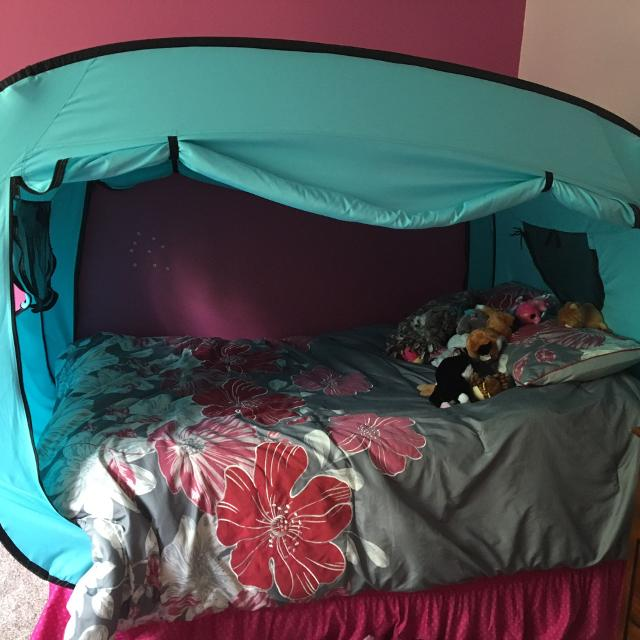 Find More Privacy Pop Bed Canopy Full Size Bed Used For 3 Months