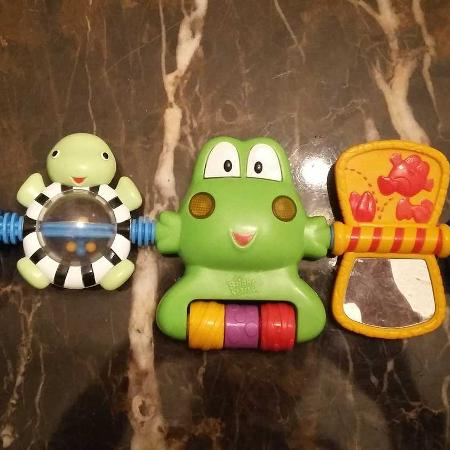 Carseat Stroller Or Crib Toy Cheeks Light Up Plays 3 Songs Has Mirror