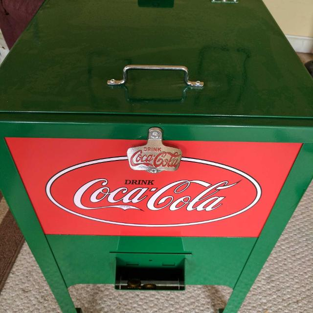Coca-Cola stand ice chest cooler