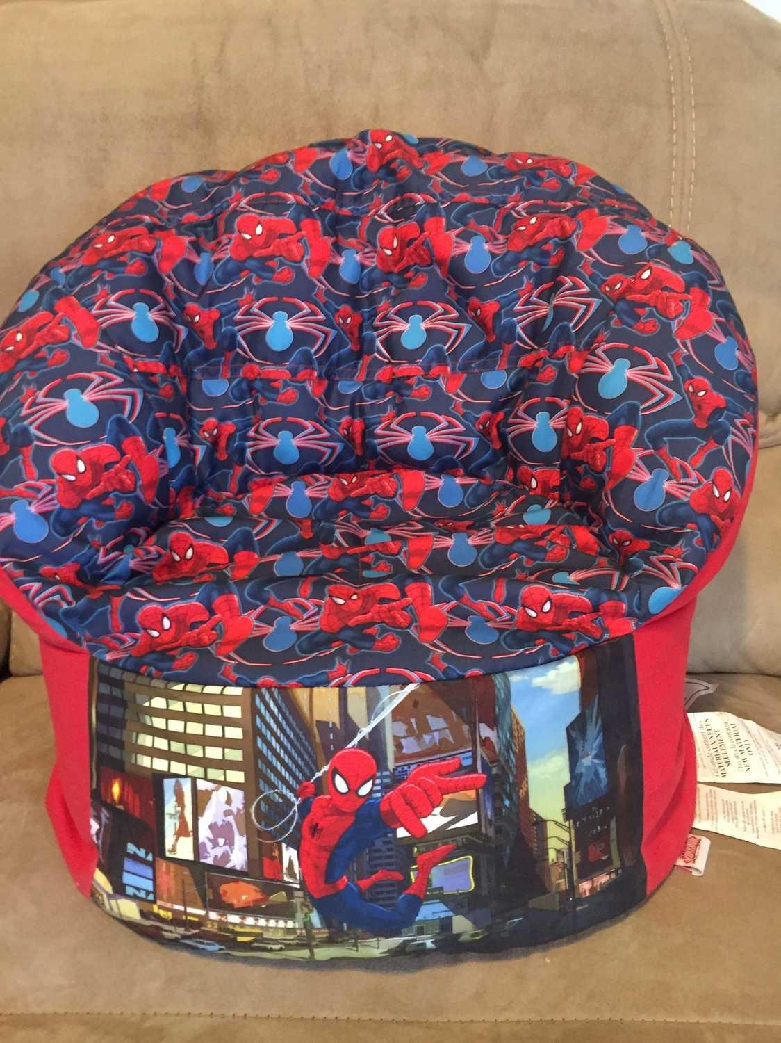 Find More New Kids Spider Man Bean Bag Chair For Sale At Up To 90 Off