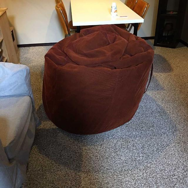 Rust Extra Large Bean Bag Chair