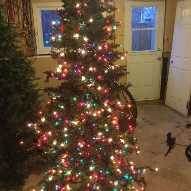 Skinny Christmas Tree.Skinny Christmas Tree Pre Lit
