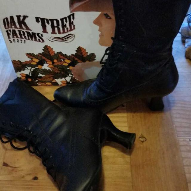 Best Black Leather Granny Boots for sale in Stony Plain ee312c3e6