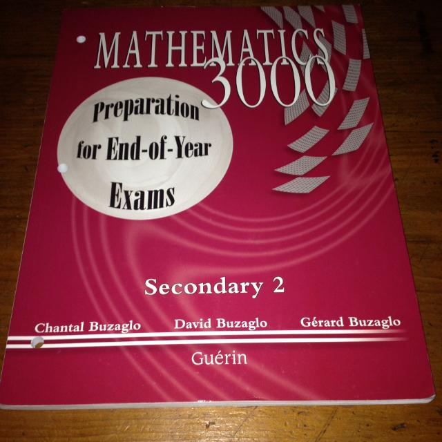 Mathematics 3000 Preparation for year end exams