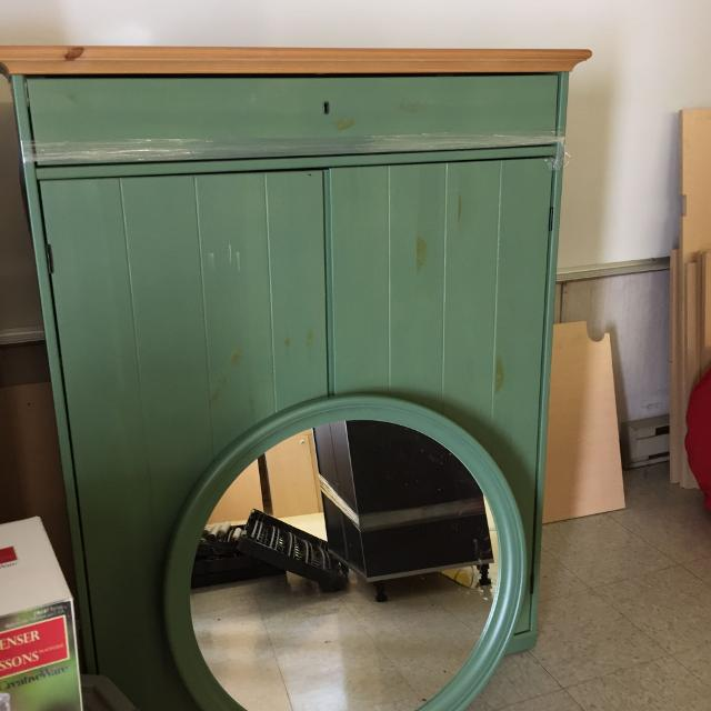 Ikea Cabinet Sale: Find More Ikea Hurdal Linen Cabinet And Mirror For Sale At