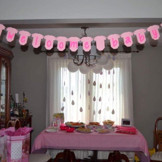 Find More Welcome Baby Hanging Banner Pink Onesies For Sale At