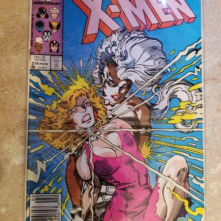 UNCANNY X-MEN #214 Marvel Comics in 1987 for sale  Canada