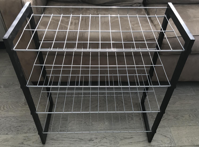 Best Black Shelving Unit 4 Wire Shelves Shoe Rack For In Abbottsford British Columbia 2019