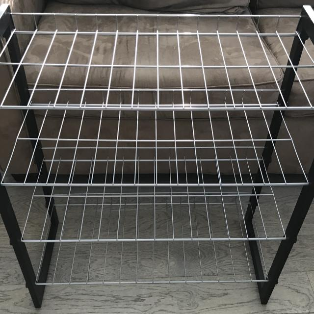 Best Black Shelving Unit 4 Wire Shelves Shoe Rack For In Abbottsford British Columbia 2019