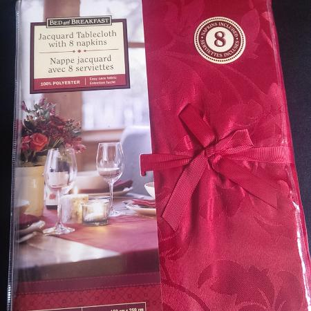 NEW Cherry Red Jacquard Tablecloth... for sale  Canada