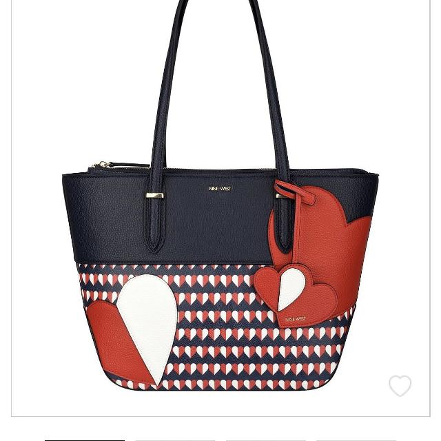 Find More Brand New Red White And Blue Heart Nine West Purse For