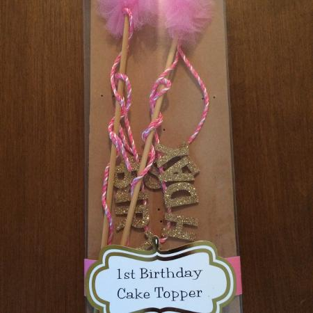 Mud Pie Brand 1st Birthday Cake Topper