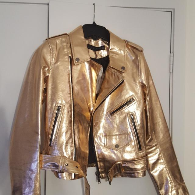 2c535355 Best Zara Rose Gold Metallic Leather Jacket for sale in Yorkville, Ontario  for 2019