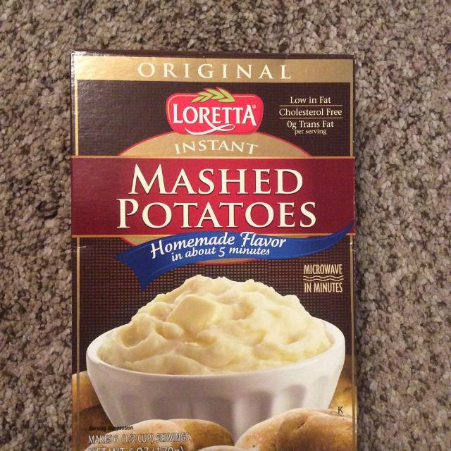 find more 6 oz box of original loretta instant mashed potatoes