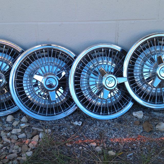Best Wire Wheel Covers Original Off 1964 Chevy Ii. for sale in Lee\'s ...