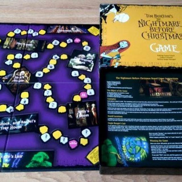 nightmare before christmas board game complete like new condition - Nightmare Before Christmas Board Game