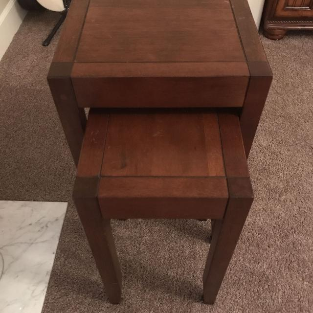 Pottery Barn Solid Wood Nesting Tables Euc