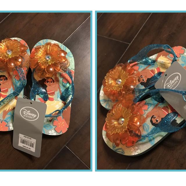 38ebe508d35e Find more Moana Flip Flops For Toddler Kidssize  7 8 for sale at up ...