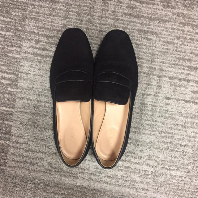 533d2520e8a Find more Jcrew Charlie Penny Loafer In Black Suede 6.5 for sale at ...