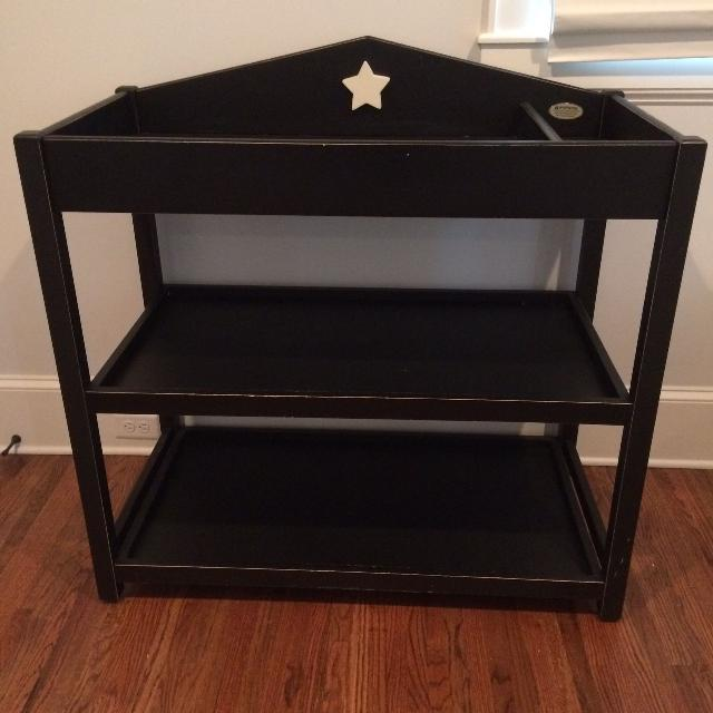 Reduced Changing Table Bratt Decor Heritage Star Black