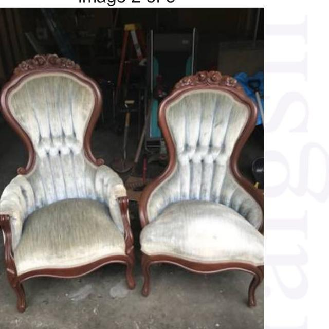 Antique his and her Victorian Parlor Chairs - Best Antique His And Her Victorian Parlor Chairs For Sale In