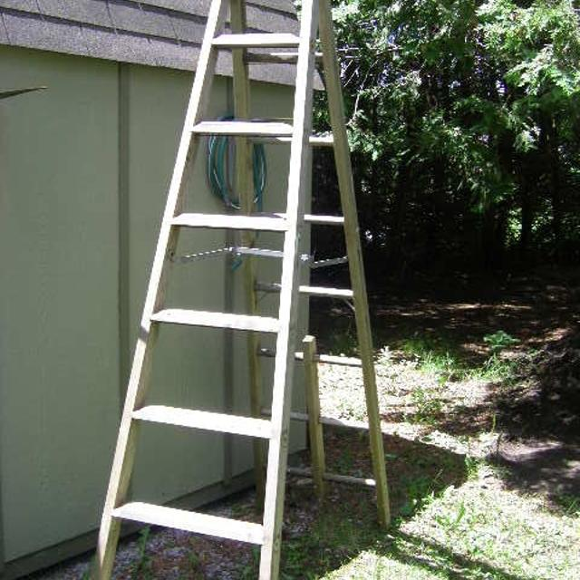 Old Wooden Step Ladder