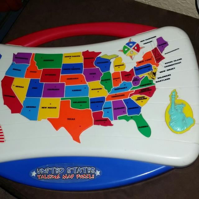 Find more Talking Usa Map Puzzle With Capitals! Guc for sale at up ...