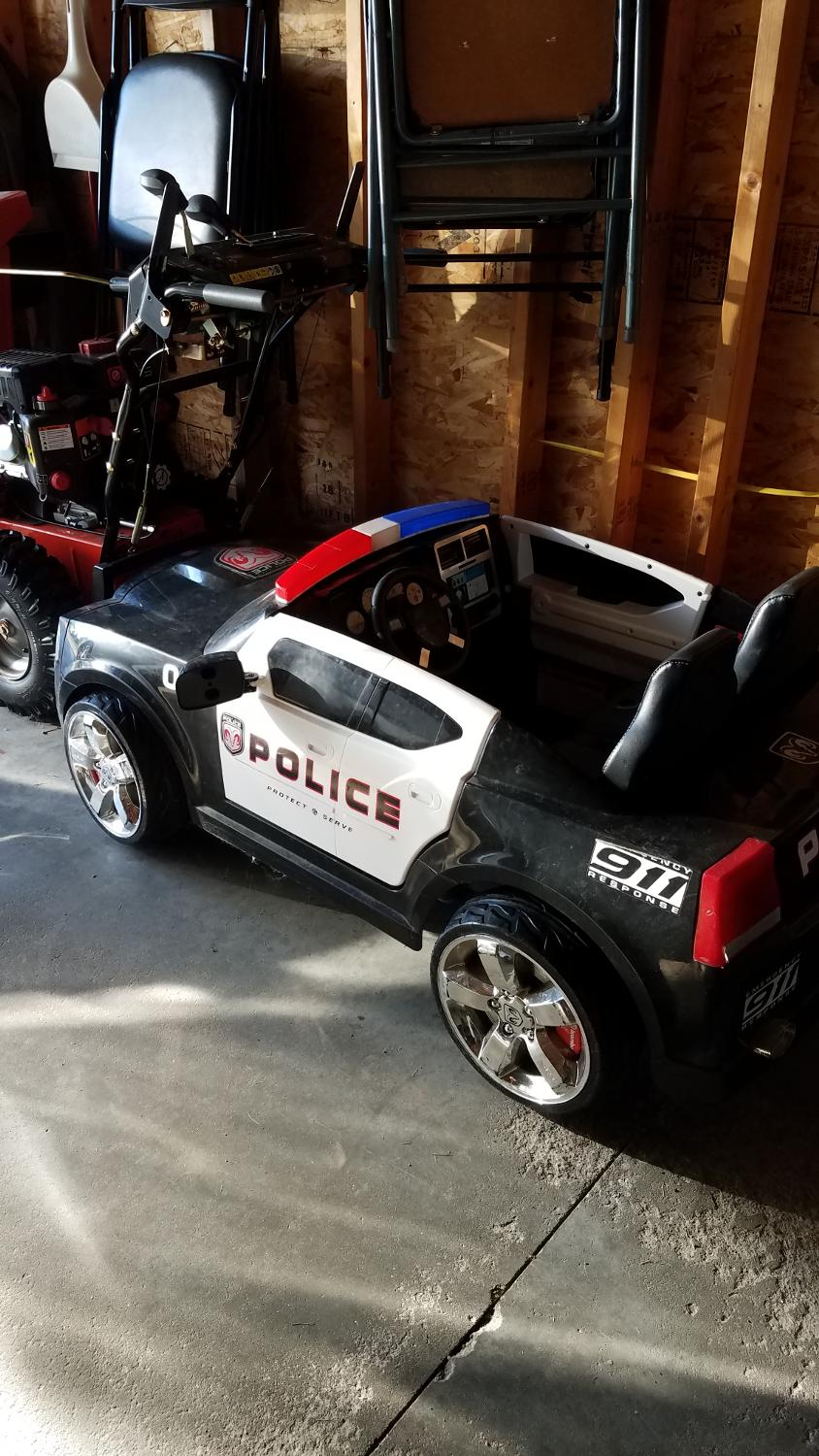 Find More Kids Trax Dodge Charger Police Car 12 Volt Power