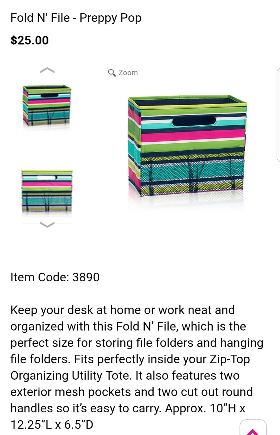 Find More Thirty One Preppy Pop Fold N File For Sale At Up To 90 Off