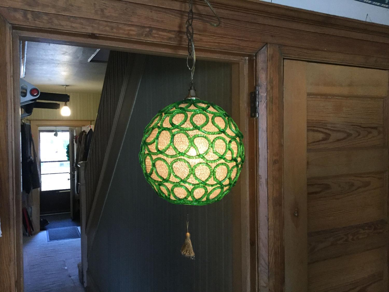 Best Early Seventies Vintage Swag Lamp