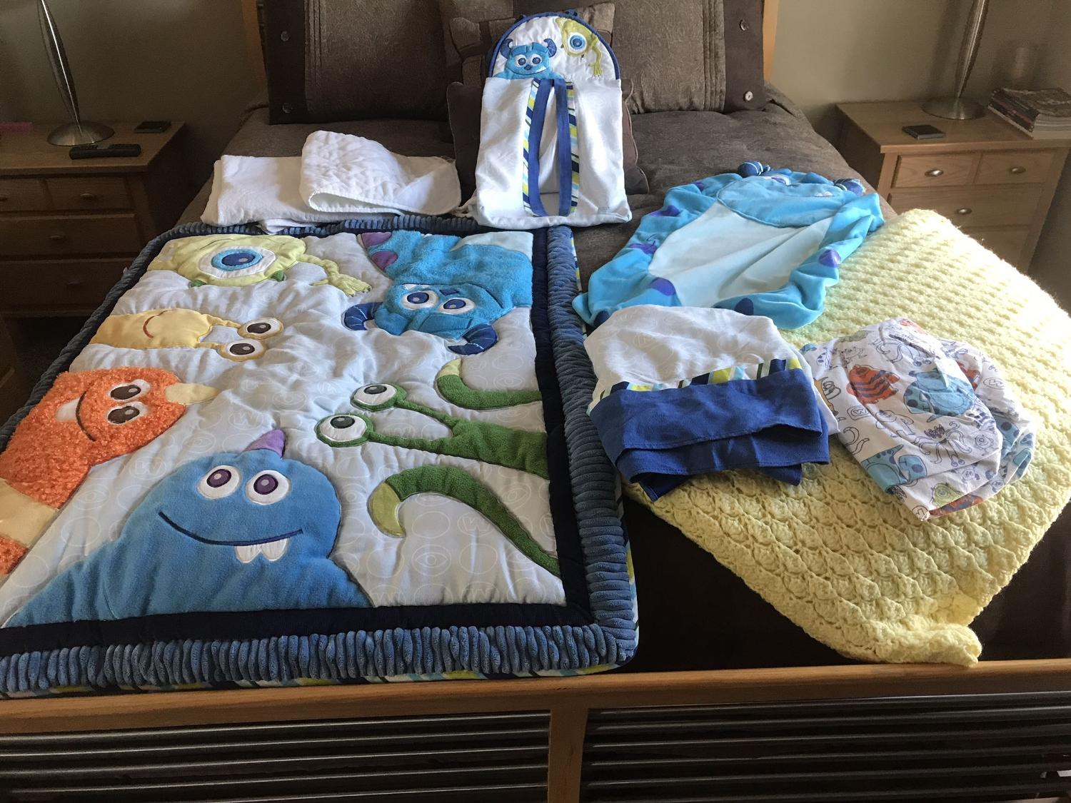 Monsters Inc 4 Piece Premier Crib Bedding Set: Find More Monsters Ink Crib Set For Sale At Up To 90% Off