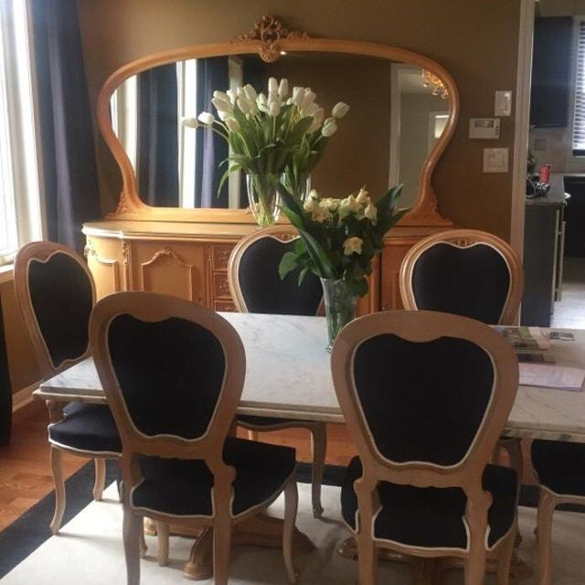 Best Dining Room Set Italian Marble Solid Wood For Sale In Mississauga Ontario 2019