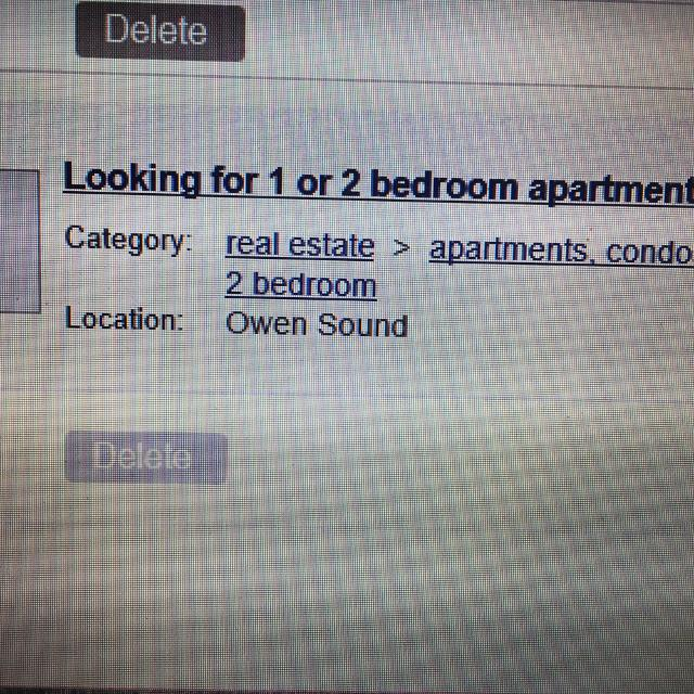 Looking For One Bedroom Apartment: Looking For: Looking For A 1 Or 2 Bedroom Apartment In