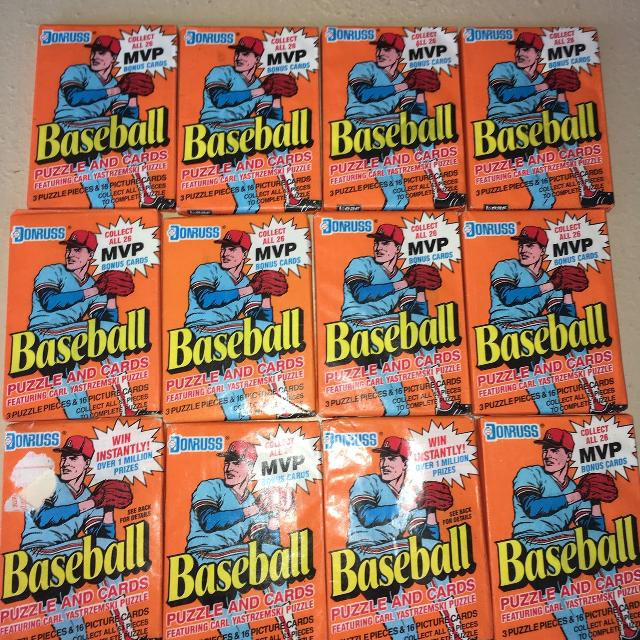 New 1990 Donruss Baseball Card Wax Packs 3 Puzzle Pieces And 16 Cards In Each Pack Only 1 A Pack Gallatin