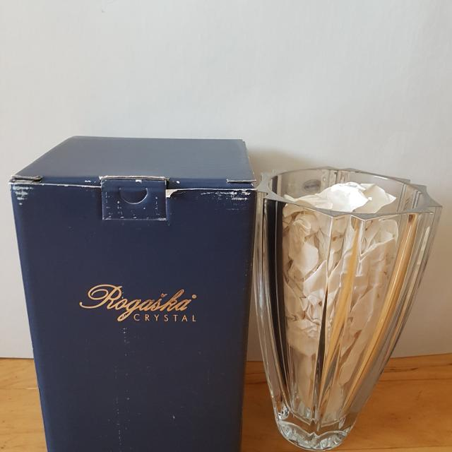 Best Rogaska Crystal Lumina Vase 9 New In The Box For Sale In