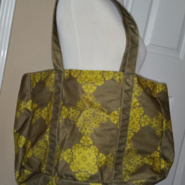 Green Large Eco Stream Planet E Tote Bag