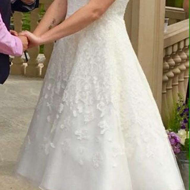 Best 3rd Price Drop Ivorywhite Tea Length Wedding Dress For Sale
