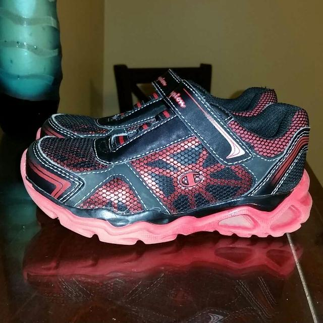 bf527c75594a Find more Bright Red And Black Champion Shoes. New! Size 11.5. See ...