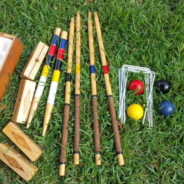 Find More Reduced Old School Sports Gold Edition Croquet Set