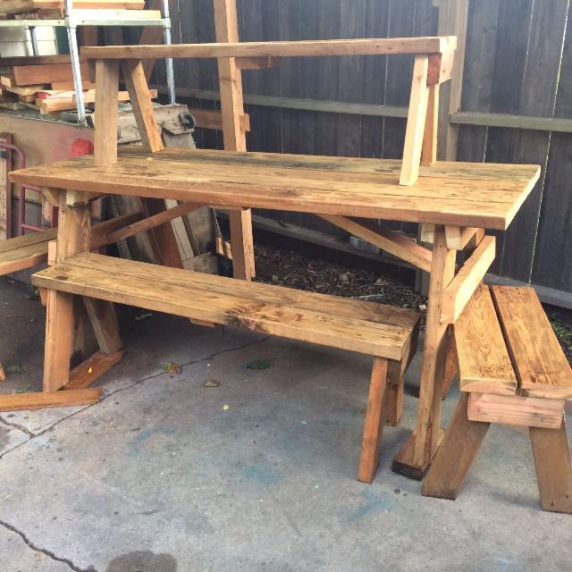 Find More Red Rustic Picnic Table And Benches Table Deep Long - High end picnic table