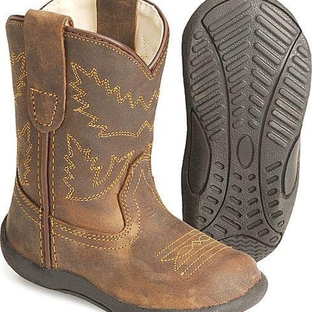 1ec8aefdfa3 Great Christmas gift Old West Toddler Boys' Crazy Horse Boots