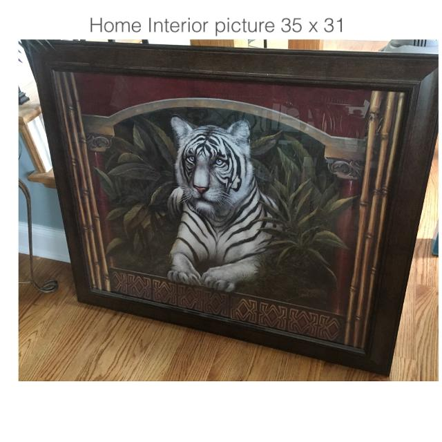Best Beautiful Home Interior Picture Of A Tiger 35 X 31 Wood Frame Perfect Condition For Sale In Ringgold Georgia For 2021