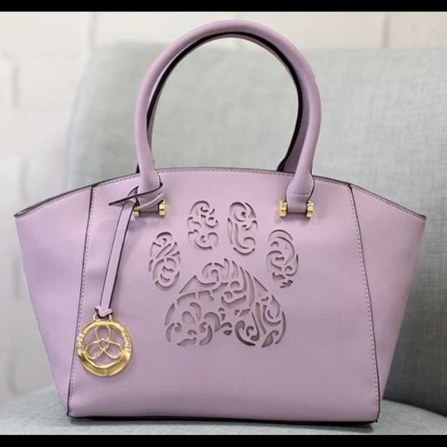 Find more Pawsitively Beautiful Handbag - Gray Lavender Purse Brand ... ba9a7a91eab78