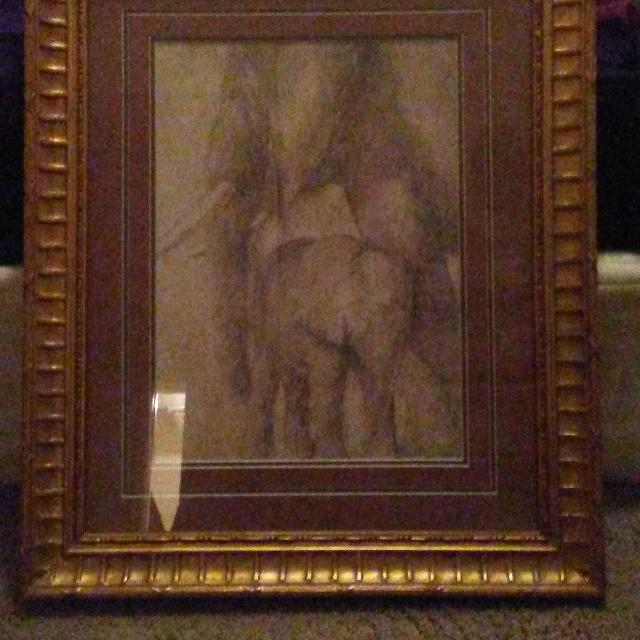 Best Elephant Picture With Gold Paint Frame For Sale In Mobile