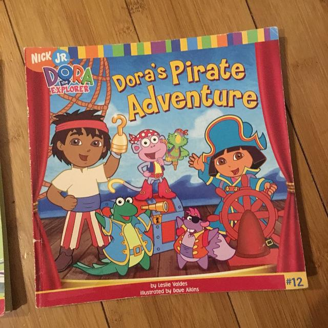 Dora's pirate adventure paperback book