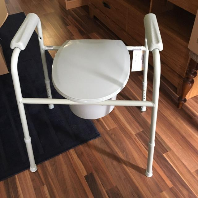 Best Adjustable Over Toilet Commode With Splash Guard for sale in ...