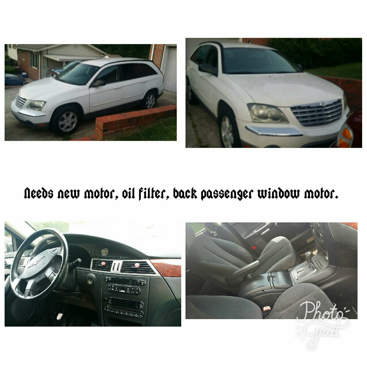 Best 2005 Chrysler Pacifica Touring $500 For Sale In