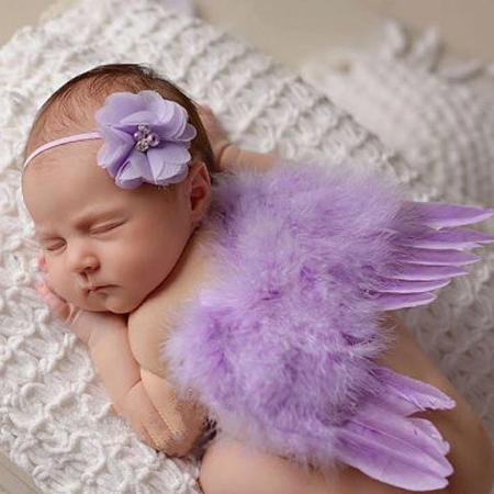 Used, BNIP Newborn Angel Wings and Headband... for sale  Canada
