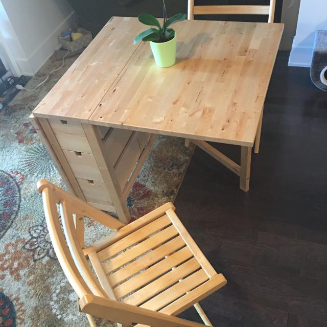 Find More Ikea Norden Gateleg Table And Two Chairs Birch For Sale At Up To 90 Off