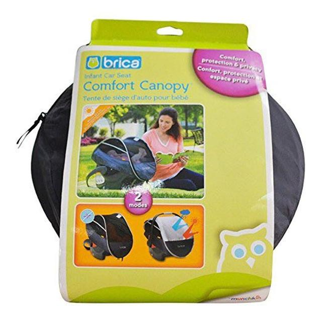 Munchkin BRICA Infant Comfort Canopy Car Seat Cover Grey